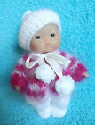 "Hand Knitted Clothes for Berenguer, Ooak Doll 3.5""- 4""; 5"" (#104)"