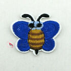Blue Bumblebee Sew/Iron On Patch 32mm P0036