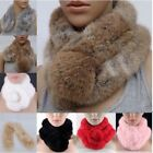 Women Popular Rabbit Fur Collar Neck Wrap Lidy Winter Warm Scarf Shawl Stole