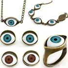 Antique Bronze Retro Punk Rock EVIL Big EYE Stud Earring/Pendant  Necklace/Ring