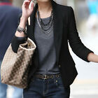 "Ladies Slim Fit Short Coat Women""s Long Sleeve One Button Suit Blazer   [HA]"