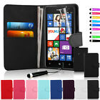 Flip Wallet Leather Case Cover For Nokia Lumia 625 With Screen Protector