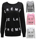 NEW LADIES WOMENS CRÈME DE LA CRÈME SWEATSHIRT JUMPER SIZES 8 - 14