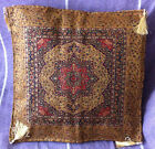 Turkish Ottoman Silk Ceramic Tapestry Pillow Cushion Hand Made,Zippered Velvet-3