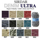 Sirdar Denim Ultra 100g Super Chunky Knitting Wool Yarn - ALL COLOURS