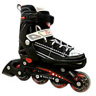 * NEW California Pro Dallas Inline Unisex Black Roller Skates Adjustable 3 Sizes
