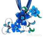 New Elegant WOMAN'S Jewelry Flower crystal Pendant Choker Necklace Chain