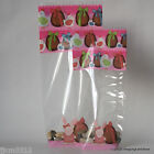 Easter Cellophane Bags Luxury Block Base  *Bunny & Eggs Pink* Choose Size/ Qty