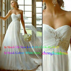 New Stock White/Ivory Wedding Dress Bridal Gown UK Size 4-6-8-10-12-14-16-18-20+
