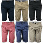 Mens Shorts Brave Soul Chino Jeans Cotton Chambray Knee Length Roll Up Summer
