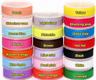 """5/50/100YDS of Solid Pure Grosgrain Ribbon - 10mm (3/8"""") width..Various Colours"""