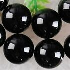 (12mm,10mm,8mm,6mm,4mm) AAA+++ Black Agate Onyx Round Loose Beads Gemstone 15