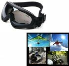 MULTI COLOR - UV400 MOTORCYCLE JET SKI SNOWBOARD PAINTBALL SAFETY PADDED GOGGLES