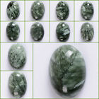 18mm Seraphinite oval focal flatback cab cabochon for jewelry making