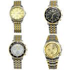 New Luxury Stainless Steel Golden Men's Quartz Movement Wrist Watch Watches