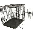 OxGord Pet Kennel Cat Dog Folding SS Steel Crate Animal Play Pen Wire Metal Cage