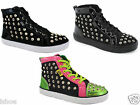 CUTE TO THE CORE CTTC VIVID STUD PUNK LACE HI-TOP TRAINERS BOOTS SHOES SIZE 3-8