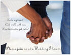 20 African American Walk With Me WEDDING SHOWER Postcards Flat Env  Invitations