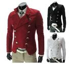 Mens Korean Fashion Double Breasted Jackets Short motorcycle Coat Blazers X311
