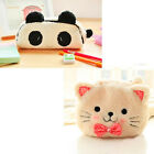 Cute Soft Plush Cosmetic Makeup Cartoon Storage Bag Pen Pencil Pouch Case
