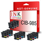 15 Compatible Ink Cartridges LC985 for Brother series Printers