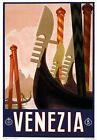 T1 Vintage 1920's Italian Italy Venice Venezia Travel Poster A1/A2/A3/A4