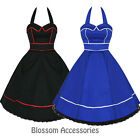 RKH14 Hearts & Roses Party Prom Rockabilly Dress 50's Bridesmaid Vintage Swing