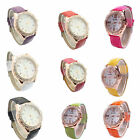 Women's Leather Quartz Analog Wrist Watch for Girl Watches 9 Colors ZJ03