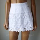 NWT ABERCROMBIE & FITCH ANF Womens Pretty White Mini Floral Lace Skirt $88