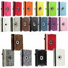 For Apple New iPad 4 4G Gen 3 3rd 2 2nd 360 Rotating Leather Case Cover 19 Color