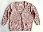 ZARA Girls NEON PINK Marl Boucle Knitted Oversized Cardigan Top 3-14y £22.99