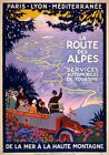TW73 Vintage 1920s French Route Des Alpes France Travel Poster A1/A2/A3/A4