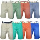 Tokyo Laundry Mens Chino Shorts 'Paolo' Free Belt Enzyme Washed
