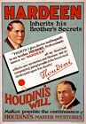 M50 Vintage 1930's Hardeen Houdini Magic Poster Re-Print A1/A2/A3/A4