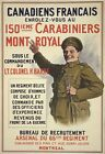 WA91 Vintage WWI French Canadian World War Recruitment Poster WW1 A1/A2/A3/A4