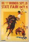 AZ19 Vintage 1930's American State Fair Rodeo Cowboy Advertising Poster A2/A3/A4