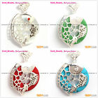 Beauty silver pendant cute carved fish with 32mm ring beads+Free SDft box/chain