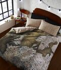 Map Photographic Duvet Quilt Cover Set With Pillowcases, Single Double King