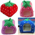S/M/L NEW Strawberry Soft Sponge Cotton Dog Pet Cushion Baskets Bed House Z