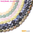 8x10mm mixed oval gemstone jewelry making loose beads 15 inches , 17 materials