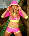Funki-B ANY COLOURS BeatZ hoody shorts dancewear street hip hop freestyle neon