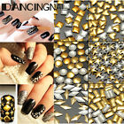 300PCS Vogue Gold / Silver Metal Rhinestones Nail Art Decor Tips Metallic Studs