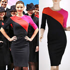 Fashion Sexy Bodycon Patched Dress Shift Pencil Wiggle Formal Work Office Party