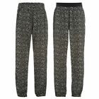 Golddigga Womens Ladies Fashion Clothing All Over Print Woven Pants Trousers
