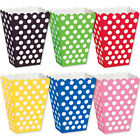 8 Polka Dot Spotty Style Party Supplies Paper Loot Treat Favour Bags Boxes PA