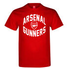 OFFICIAL ARSENAL FC MENS RED COTTON T-SHIRT JERSEY TOP GYM TRAINING GIFT XMAS