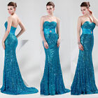 Stylish Long Sequin Evening Bridesmaid Dresses Prom Dress Formal Party Ball Gown
