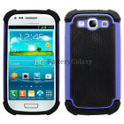 Hybrid Rugged Rubber Matte Hard Case Cover Skin for Samsung Galaxy S3 S III 3