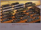 TX242 Vintage 1940's British Railways Different Locomotives Poster A1/A2/A3/A4