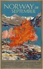 TX248 Vintage 1920's Norway In September Travel Poster Re-Print A1/A2/A3/A4